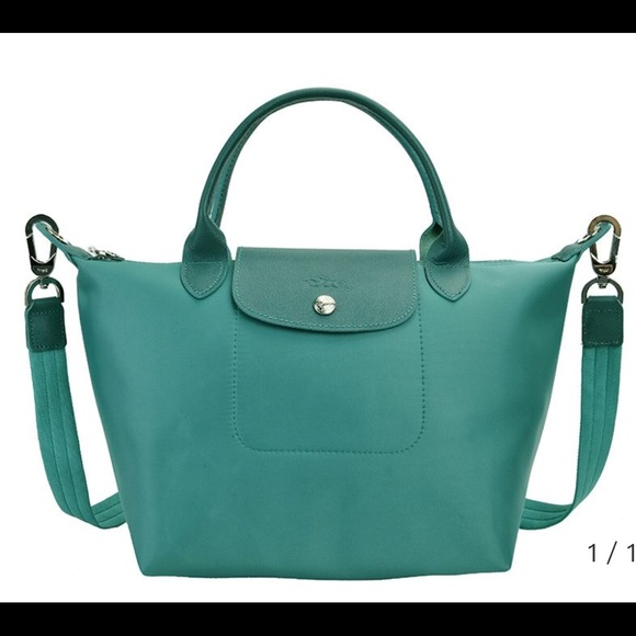 5c5f109ebd0c Longchamp Handbags - Longchamp Neo Nylon Small Tote Lake Blue. New!